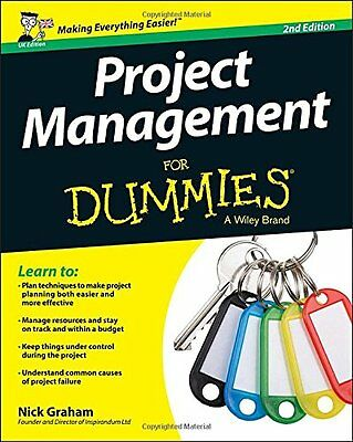 Project Management for Dummies,PB- NEW