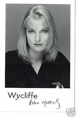 Helen Masters Actress Wycliffe Hand signed Publicity Photograph 7 x 5