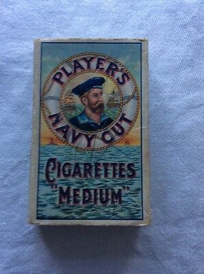 Player's Navy Cut Cigarette Packet.