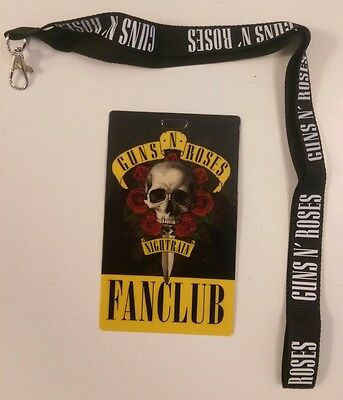 Guns n' Roses Nightrain Fan Club Lanyard
