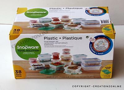 38 pc Snapware Total Solution Plastic Food Storage Set Airtight Leakproof NEW
