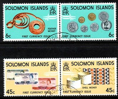 (Ref-9340) Soloman Islands 1977 New Currency  SG.349/352  Used Set
