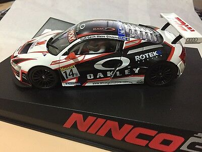 50653 Ninco Audi R8 Gt3 Oakley 1:32 Scale Slot Car