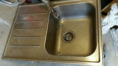 Sink with mixer tap stainless steel