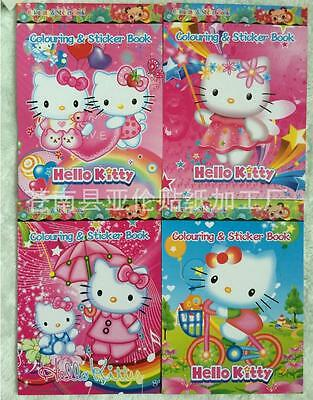 Random 1pcs hello kity Coloring Book Party Gift For Kids Sticker(no Coloring pen