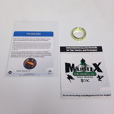 Heroclix Lord of the Rings set The One Ring #S101 Relic/Special Object w/card!
