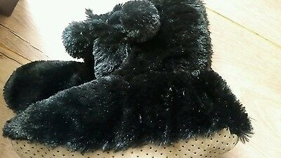 primark 6-8 size black slipper boots new with tags