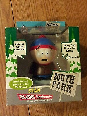 Stan deskmate talking cartoon comedy central antics south park holder figure
