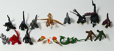 "Vintage Toho Godzilla 2"" 15 Plastic Figures from Japan 2001"