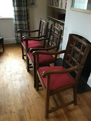 Set Of 3 Arts and Crafts Style Carver Chairs