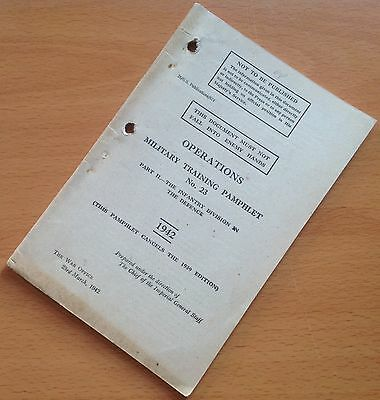 Original 1942 British Training Manual/pamphlet: The Infantry Division In Defence