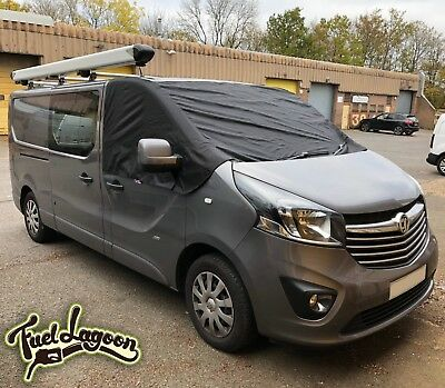 Deluxe 2015 Vauxhall Vivaro Van Window Screen Cover Windscreen Black Frost Opel