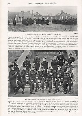 1900 ANTIQUE PRINT-BOER WAR-OFFICERS OF 4th SOMERSETSHIRE LIGHT INFANTRY