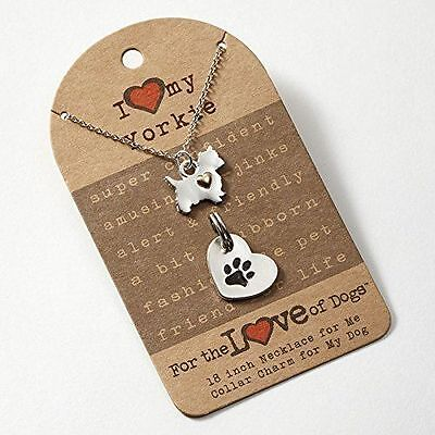 New Enesco Enesco For The Love of Dogs Yorkie Necklace