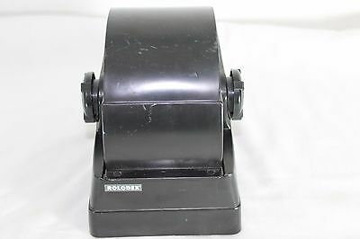 Vintage Mini ROLODEX Wheel with Alphabetical Cards Black Plastic