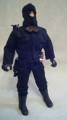 """Vintage S.A.S Action Man 12"""" figure with full flock beard. version 2"""