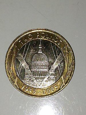 St Pauls Cathedral 1945-2005 £2 Pounds Coin