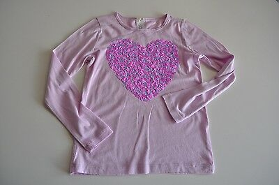 Crewcuts Girls size 10 Long Sleeve T Shirt with Sequin Heart Purple