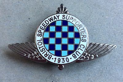 1930S Bristol Speedway Supporters Club 2002 Re-Issue Enamel Badge
