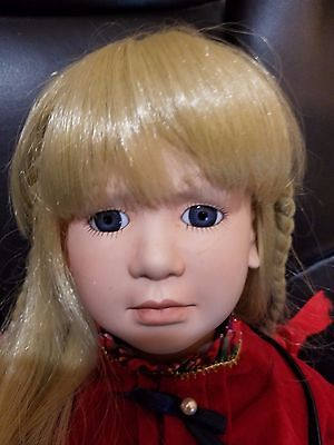 """Absolutely Beautiful Victoria Impex porcelain 24"""" Musical doll 74/480 Rare Find"""