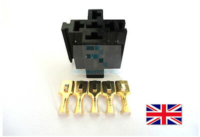 DIY Relay Socket 5 Pin Mount Holder Case/Contacts - Free Postage High Quality