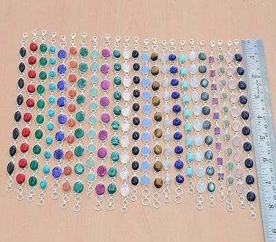 23Pc Wholesale 925 Solid Sterling Silver Natural Turquoise Mixstone Bracelet Lot