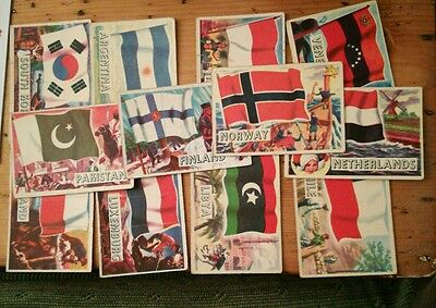 12 cards of A&BC Flags of the World