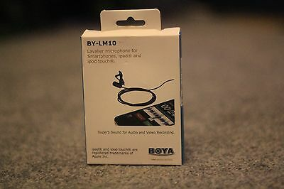 Boya BY-LM10 lavalier microphone for smartphone.