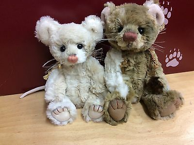 Charlie Bears Dickory And Doc Plush Jointed Mice From 2016 Collection