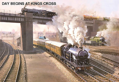 "Hornby Dublo in Railway Art ""Day Begins at King Cross"" No. 11 Signed & Numbered."