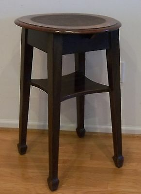 Antique Arts and Crafts Mission Oak Lamp Table