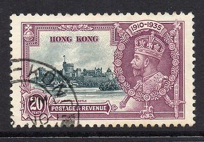 Hong Kong 20 Cent Silver Jubilee Stamp c1935 Used SG136