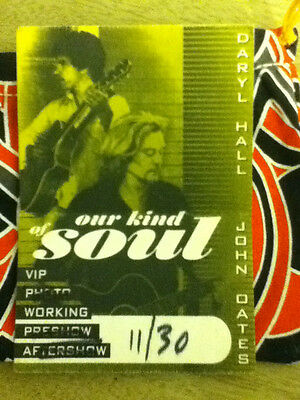 Hall & Oates *Our Kind of Soul Tour* Back Stage Pass