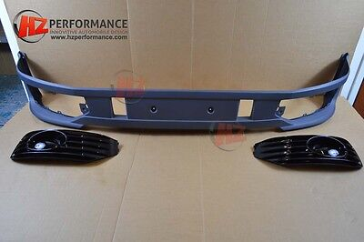 VW TRANSPORTER T5 T5.1 Sportline Type Front Bumper Lip + GLOSS BLACK GRILL COVER