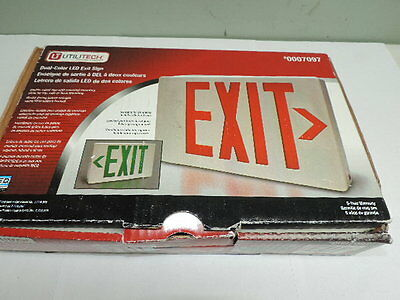 EXIT Sign Utilitech Dual-Color LED Exit Sign 0007097 Double Sided w/ Mounting