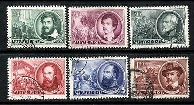 (Ref-8727) Hungary1952 Heroes of the 1848 Revolution SG.1218/1223 Set of 6 Used
