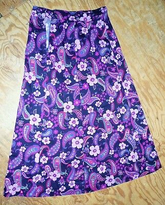 Vintage 1960s Hand-Made Psychedelic Maxi Skirt Size 12 to 14