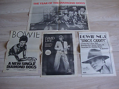 Bowie – Very Rare – Four 1970s Full Page Adverts from New Musical Express