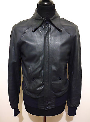 CULT VINTAGE '70 Giubbotto Uomo Pelle FONZIE Man Leather Jacket Sz.S - 46