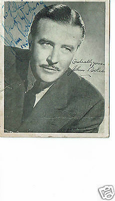 John Boles Actor Frankenstein 1931  Hand  Signed Photograph 4 x 3