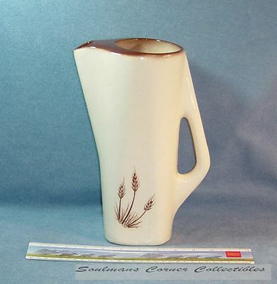 Beautiful Vintage Colorado Pottery Factory Tall Pitcher Wheat Stalks Designs