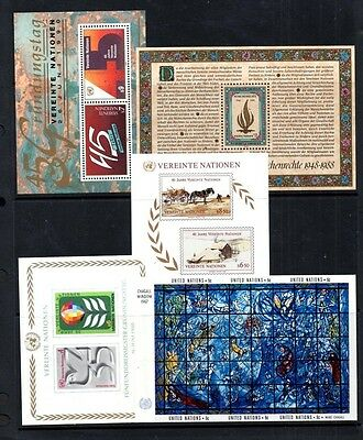 (Ref-8779) United Nations Selection of 5 Miniature Sheets Mint (MNH)