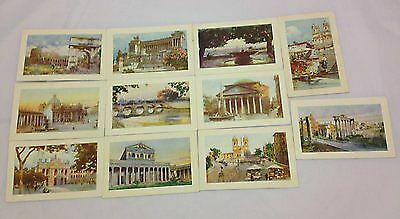 Set of 11 Early Art Postcards Roma Rome Italy