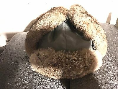 Columbia Arctic Tundra™ Trapper Earflap Hat Real Rabbit Fur New without tags