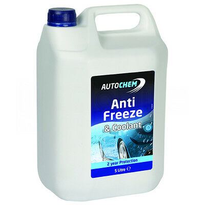 AutoChem 2 Year Protection Car AntiFreeze and Summer Coolant Blue 5 Litre