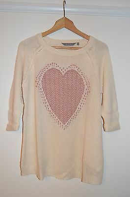 New Look Maternity Size 12 Beige jumper with heart design