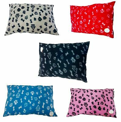 Fleece Removable Cover Puppy Pets Dog Cat Bed Cushion Pillow Mat Large Deluxe