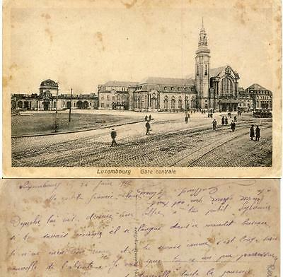 Luxemburg Luxembourg Gare Centrale 1917 AH3