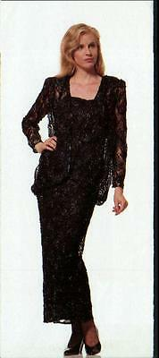 JASDEE Vintage Long Dress Hand Work Bead & Sequins on Lace Style 1024