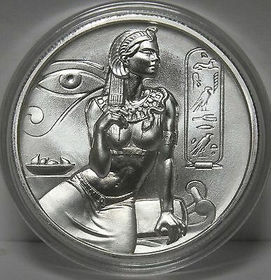 Cleopatra .999 Silver Art Medal Round - Ultra High Relief - 2 oz Troy - JT471